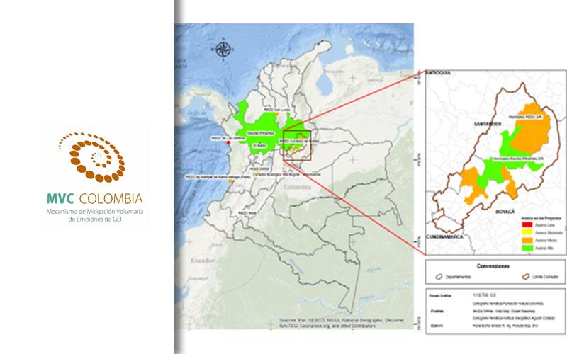 Ubicación Geográfica De Los Proyectos Apoyados Y Desarrollados En El Marco De MVC Colombia.