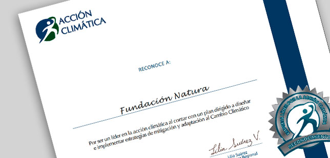 Fundación Natura Recibe Reconocimiento De Acción Climática